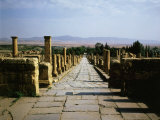 Northern Street,Timgad (founded 100 AD by Trajan), Algeria, North Africa Photographic Print
