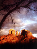 Sunset Sky over Cathedral Rock, Sedona, Arizona, USA Photographic Print