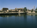 Temple of Amon Seen from Sacred Lake, Karnak, Egypt Photographic Print