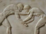 Wrestling, from Games in Palaestra, Relief, c. 510 BC Attic Greek Photographic Print