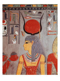 Painted Limestone Decoration in the Tomb of Horemheb Giclee Print