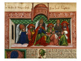 Pope Nicholas V Receiving Book 1397-1455 Giclee Print