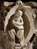 Young Man Seated Holding a Lute, Romanesque Carved Capital, c.1118-1120, from Cluny Abbey Photographic Print