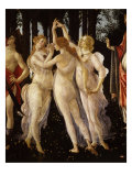 La Primavera (Spring) Detail of Three Graces, c.1475 Giclee Print by Sandro Botticelli