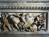Battle Between Greeks and Persians, Relief, Alexander Sarcophagus Photographic Print