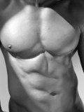 Muscular Shot of Male Chest and Stomach Fotografie-Druck von Rob Lang