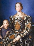 Eleanor of Toledo, with her son Jean de Medici, c. 1545 Fotografisk tryk af Agnolo Bronzino