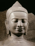Face, Buddha Protected by the Naga, Sandstone, late 12th - early 13th century Reproduction photographique