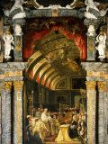 Holy Communion of Charles II, 1661-1700, King of Spain Photographic Print by Claudio Coello