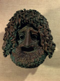 Mask, Bronze, Classical Period Ancient Greek Photographic Print