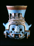 Tlaloc, Rain God, Vase, Aztec, Mexico Photographic Print