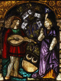 Musician and Lady, Stained Glass, Late 15th - early 16th Century Swiss Photographic Print