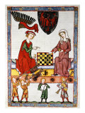 Otto IV, 1266-1309, Elector and Margrave of Brandenburg, Playing Chess with his Wife Giclee Print