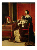 Woman at her Toilet with Servant, from La Vue (sight), c. 1635 Giclee Print