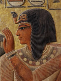 Sety I, c.1290-1279 BC 19th Dynasty New Kingdom Egyptian Pharaoh, with Goddess Hathor Photographic Print