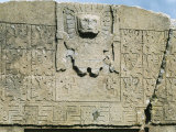 Relief, Sun Gate (Intipunku), Tiahuanaco, Bolivia (detail) Photographic Print