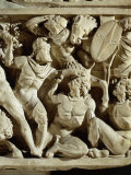 Battle between Romans and Barbarians, Sarcophagus, 3rd century AD Roman Photographic Print