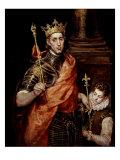 Saint Louis IX 1214-70 King of France Giclée-tryk af  El Greco
