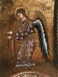 Figure of An Angel from 12th century Byzantine Mosaic on Cupola of the Martorana Church in Palermo Photographic Print