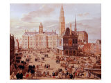 Dam Square, Amsterdam, Holland, 1659 Giclee Print by Jacob van der Ulft
