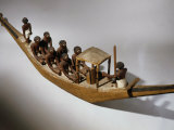 Boat, Model, Painted Wood c. 2000 BC Middle Kingdom Egyptian Photographic Print