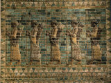 Frieze of the Archers, Polychrome Glazed Brick, 5th century BC Photographic Print