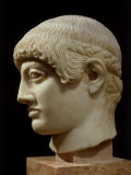Head of Blond Ephebe (Youth), Marble, c. 485 BC Archaic Greek Photographic Print
