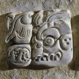 Mayan Glyphs, Stuccowork, Found inside Temple XVIII, Mexico Photographic Print