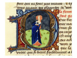 Pregnant Woman, Folio 47 of 1356 Manuscript Treatise on Medicine by Aldebrando di Firenze Giclee Print