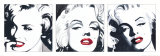 Marilyn Triptych Posters van Irene Celic