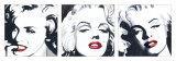 Marilyn Triptych Prints by Irene Celic