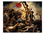 Liberty Leading the People, July 28, 1830 Reproduction procédé giclée par Eugene Delacroix