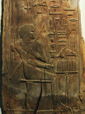 The Deceased Seated in Front of an Offering Table, 5th Dynasty 2450-2325 BC Photographic Print