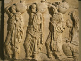 Bearers Carrying Hydria, the Parthenon Frieze (East Side), c. 442-38 BC Classical Greek Photographic Print
