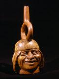 Portrait Vessel called Laughing Man, c. 200 BC - 700 AD, Peru Photographic Print