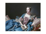 Madame de Pompadour, 1721-64, Mistress of Louis XV Reproduction proc&#233;d&#233; gicl&#233;e par Francois Boucher