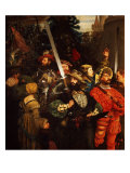 Departure of the Lansquenets or German Mercenaries Serving France Giclee Print by Gustave Jean Jacquet