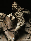 Gallic Warrior Fleeing, Temple Frieze, Terracotta, 2nd century BC Photographic Print