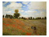 Les Coquelicots, (Poppies near Argenteuil) 1873 Giclee Print by Claude Monet