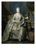 Jeanne Antoinette Poisson, Marquise de Pompadour, 1722-64 Giclee Print by Maurice-quentin De La Tour
