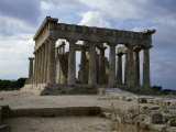 Temple of Aphaia, Early 5th century BC Doric Order, Aegina, Greece Photographic Print