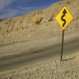 Road Sign Along Artist's Drive, Death Valley National Park, California Photographic Print by Deon Reynolds