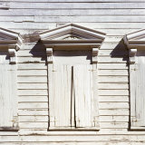 Shuttered Windows of Ghost Town School House, Silver City, Idaho, USA Photographic Print by Deon Reynolds