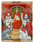 Pope Clement VII, 1478-1534 (Giulio de Medici), Dictating his Laws, 16th century Manuscript Giclee Print