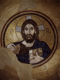 Christ Pantocrator, Mosaic, Cupola, Daphni Monastery, late 11th century Byzantine, Greece Photographic Print