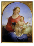 The Madonna of the Rosary Giclee Print by Tommaso Minardi