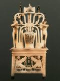 Perfume Vessel of Tutankhamun 1332-1322 BC, Painted Alabaster Photographic Print