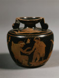 Bleeding a Man, Red Figure Aryballos by the Clinic Painter, c. 500 BC Greek Photographic Print