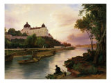 Klosterneuburg Monastery, on Danube river, Austria Giclee Print by Friedrich Loos