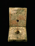 Pocket Sundial, Ivory, Marked as Made 1592 by Hans Trschel, Germany Photographic Print